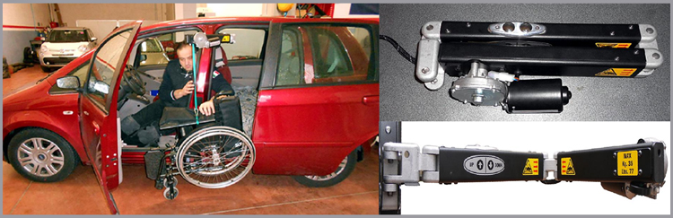 The SG35 Lifting Hoist is designed to be mounted laterally to assist those wanting to access and store the wheelchair directly behind the driver or passenger seat.