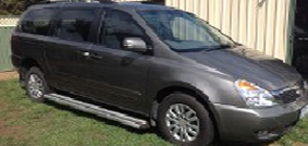 Full length aluminium side-steps are available for installation on all Kia Grand Carnival conversions.
