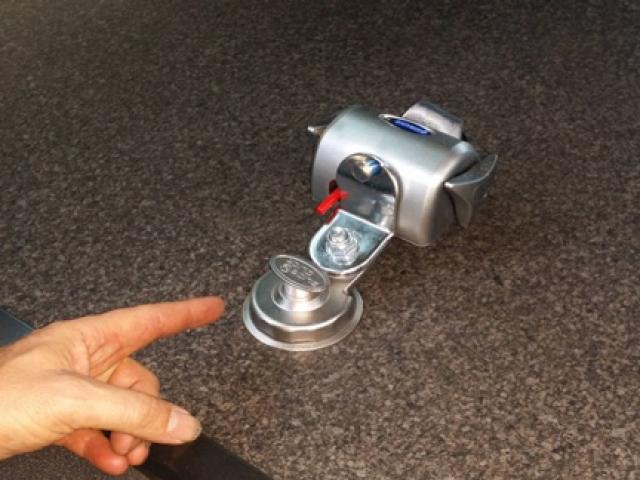 Q Straint Slide Click Restraints installed in Toyota Commuter