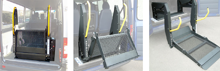 Slylift unit - The Sky-lift style unit is not only easy to use, but its horizontal folding design improves visibility and takes up minimal space making it a great option for smaller vehicles .