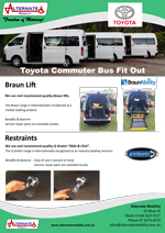 TOYOTA BUS FIT OUT - Click Image to Download Brochure