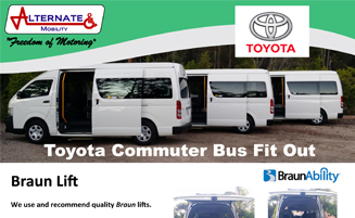 Toyota Commuter Bus Fit Out