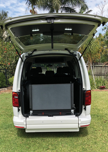 Focaccia Kit for Vehicle Wheelchair Conversion in a VW Caddy