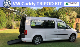 VW Caddy fitted with Stainless Steel TRIPOD KIT - Won't Rust