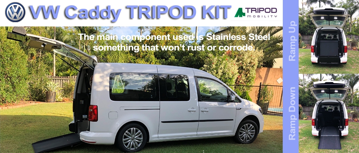 VW Caddy Tripod Kit - Alternate Mobility Slacks Creek