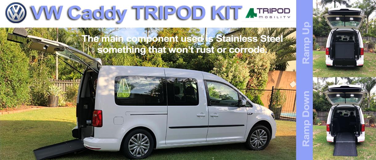 VW Caddy Tripod Kit - Alternate Mobility Slacks Creek