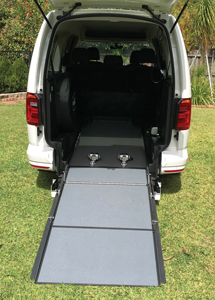 Focaccia Kit for Vehicle Wheelchair Conversion in a VW Caddy - Ramp Down