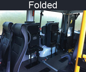 Folded Seating - Mercedes Sprinter Van Fit Out