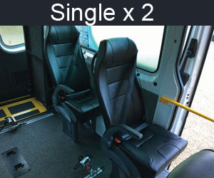 Single x 2 Seating - Mercedes Sprinter Van Fit Out