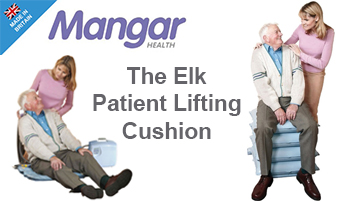 The Mangar ELK emergency lifting cushion designed to provide a safe, dignified lift and is recognised for reducing the risk of injury to caregivers.